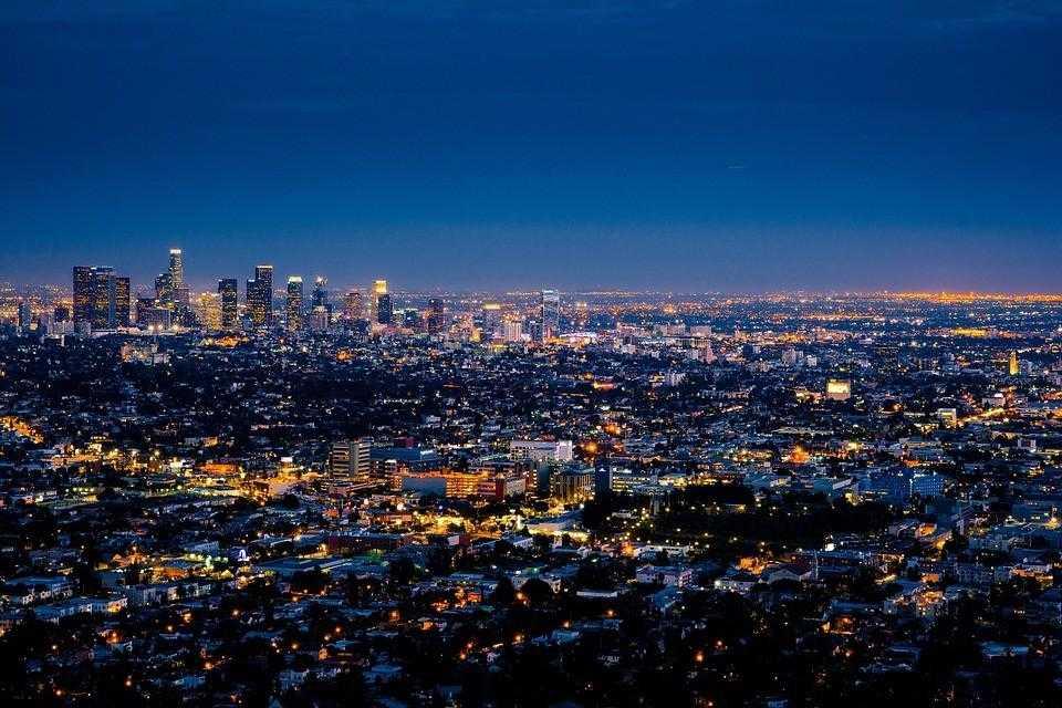 город ангелов Лос-Анджелес