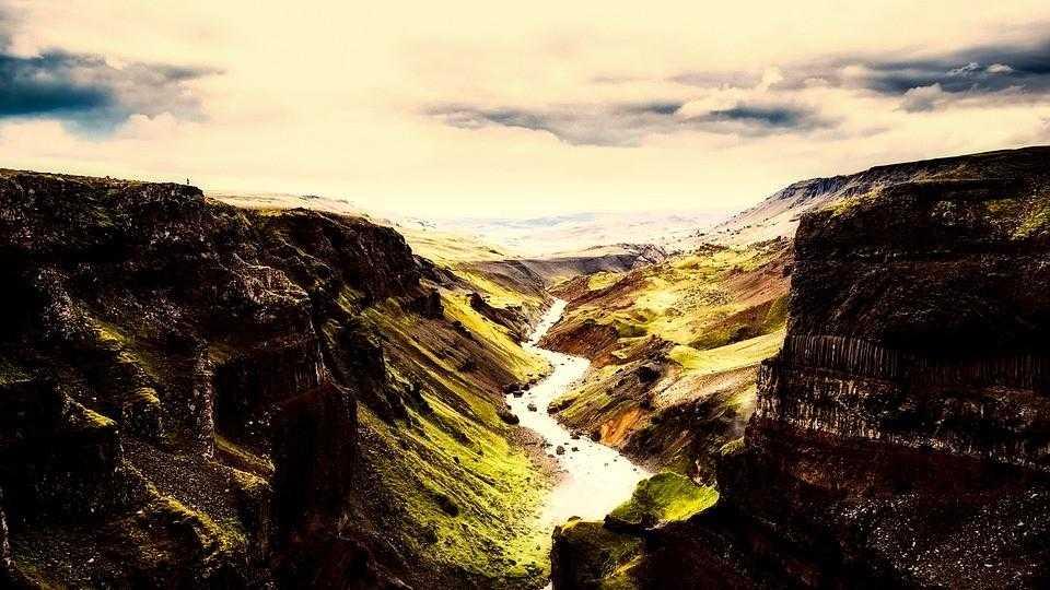 Исландия, водопад