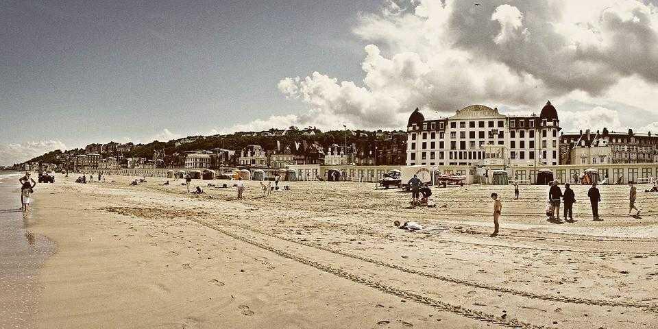Трувиль, пляжи франции