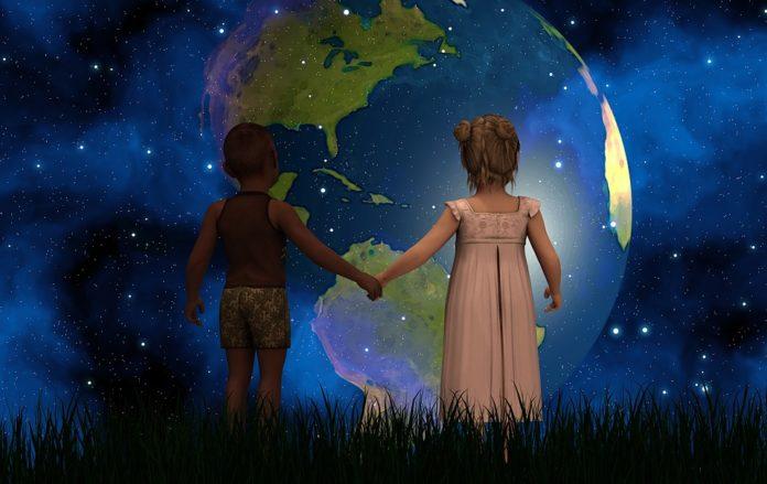 земля, мир, планета, дети