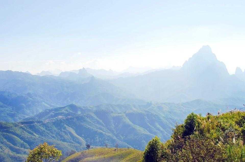 Лаос, горы, виды