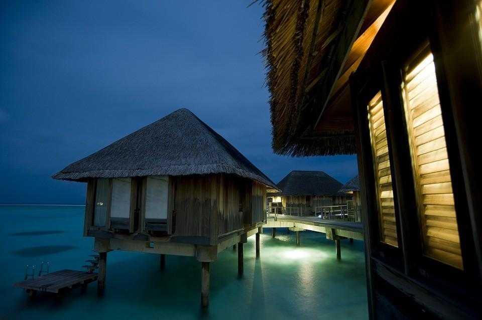 Мальдивы, закат, пляж, песок