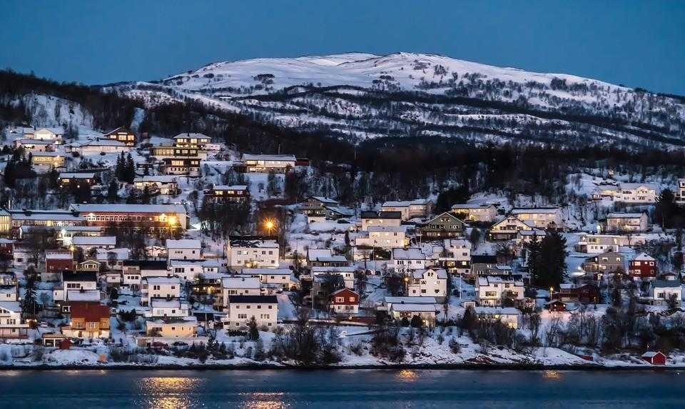 Норвегия, северное сияние