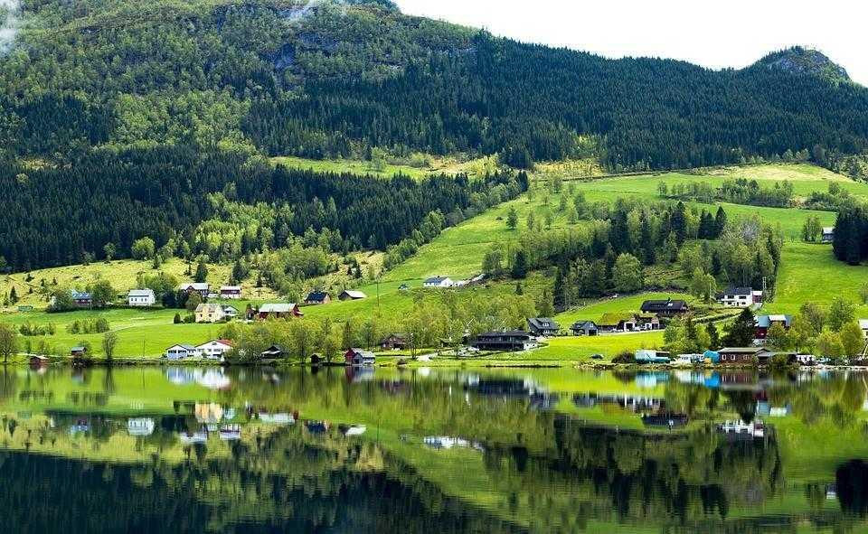 Норвегия, острова, горы