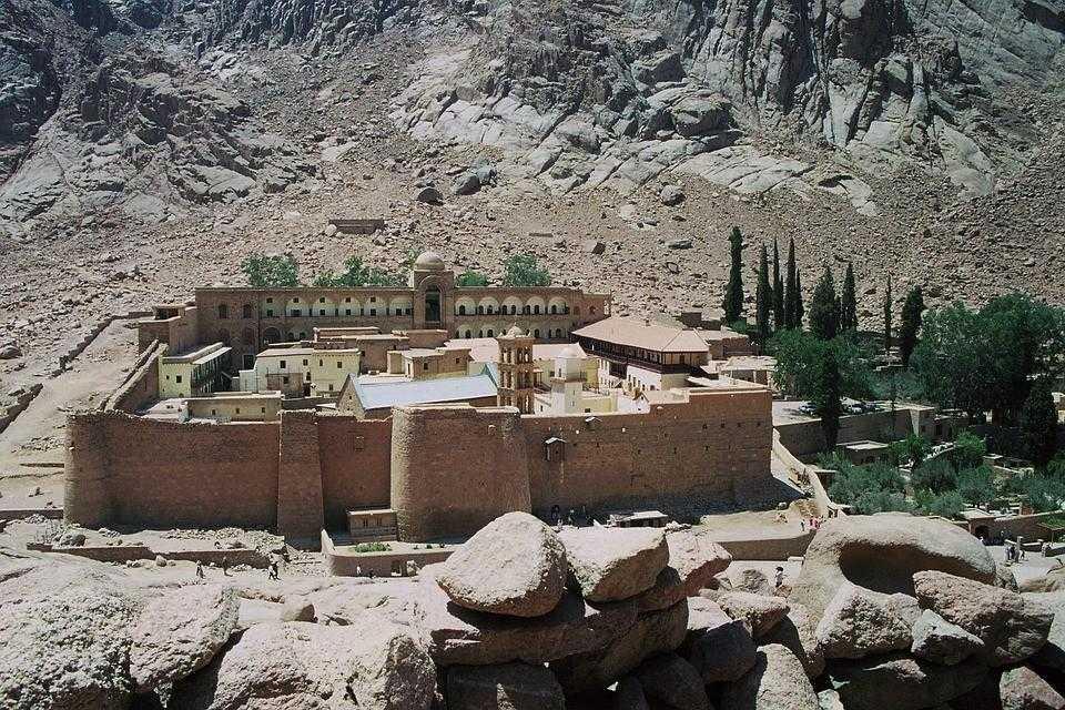 монастырь, египет