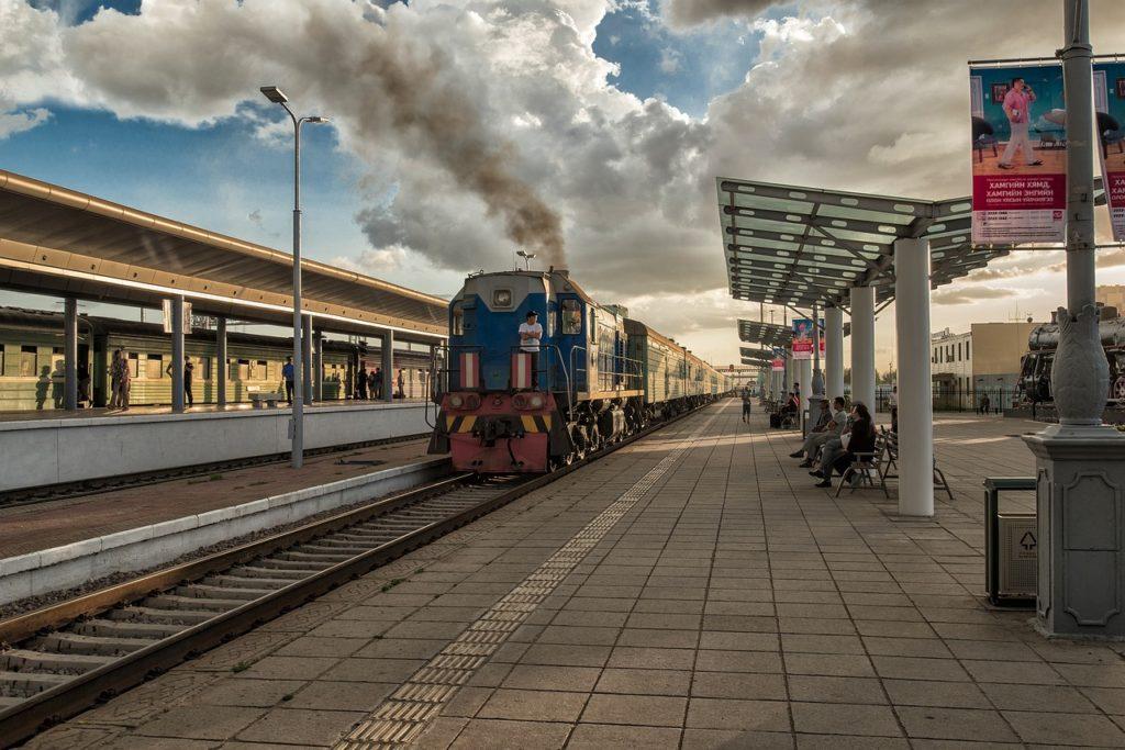 поезд, монголия