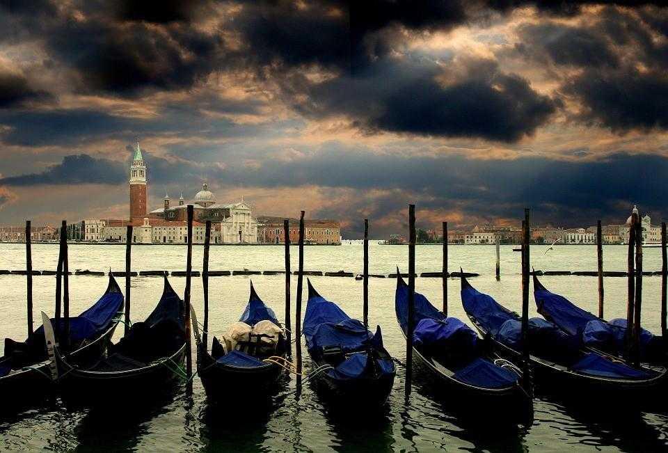 венеция, гондолы, лодки