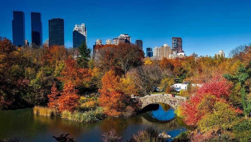 центральный парк, осень, нью йорк