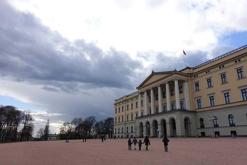 королевский дворец, норвегия, осло