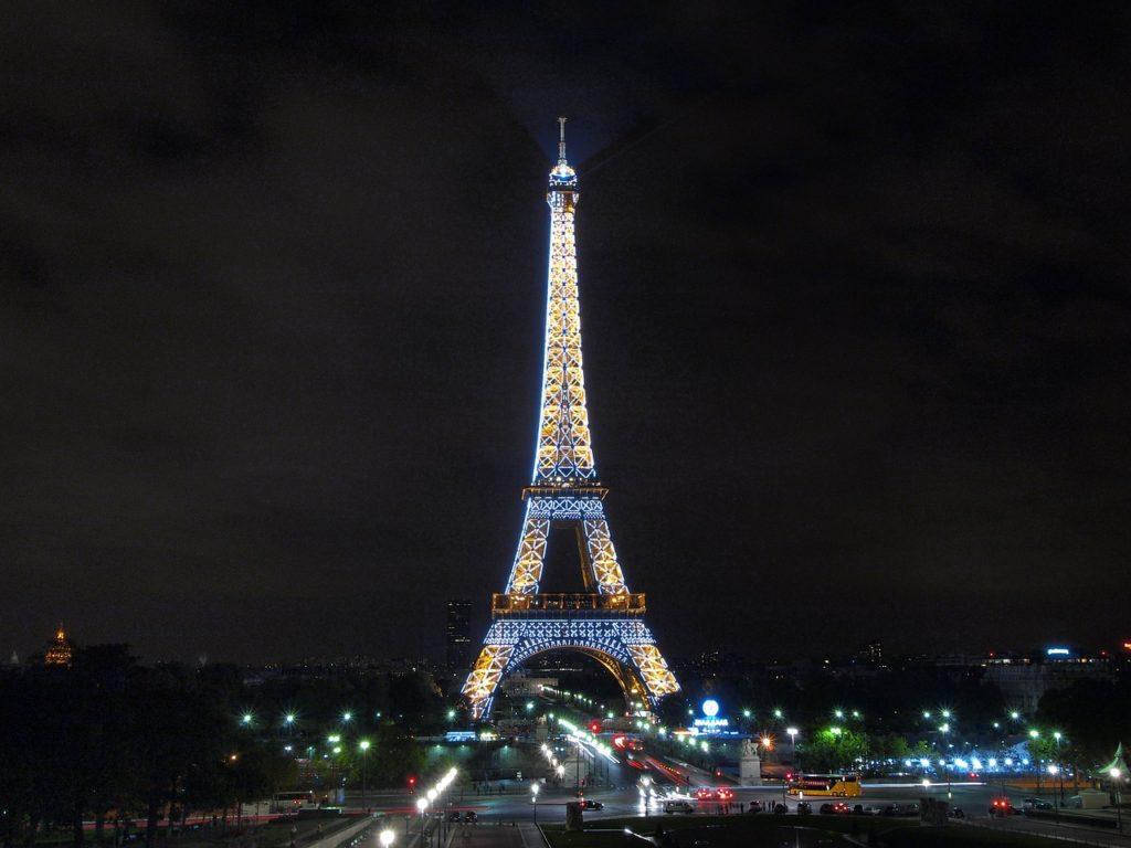 эйфелева башня, париж, новый год